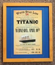 TITANIC FRAMED REPLICA POSTER FIRST SAILING FROM SOUTHAMPTON  ON APRIL 10th 1912