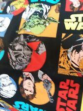 STAR WARS Cotton Fabric comics Fat Quarter new yoda dark vador princess