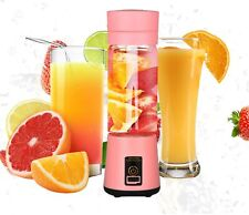Portable Electric Juicer Cup, USB Rechargeable Personal-size Blender Pink