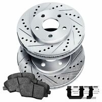 Fits 1991-1995 Suzuki Sidekick Front Drill Slot Brake Rotors+Ceramic Pads