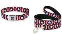 Buckle Down Dog Collar or Leash - Captain America Marvel Comics S M L