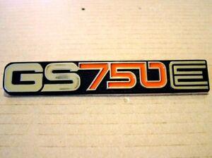 GS750E Side Cover Badge for Suzuki GS 750E 1979 - 1982 New Metal Emblem SS35