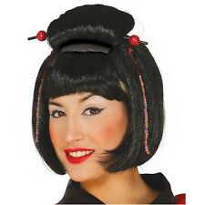 ASIAN JAPANESE LADY WIG FANCY DRESS GEISHA ACCESSORY