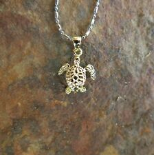 Hawaiian Jewelry Golden Small Turtle Pendant SP93505