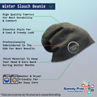Slouchy Beanie for Men Mason Gold Embroidery Winter Hats Cotton Women Skull Cap