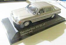 MINICHAMPS 1/43 Scale 430 039201 MERCEDES 450 SEL 6.9 1972-79 Smoke Silver