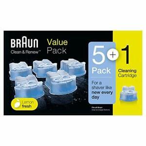 Braun Pack de 6 Cartouches de Recharge Clean & Renew CCR4 Nettoyant Pour Rasoi