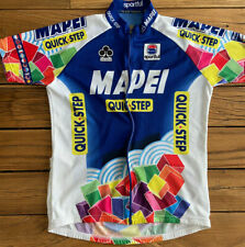 MAPEI QUICK-STEP VINTAGE TEAM CYCLING JERSEY LARGE USED !! FREE USA SHIPPING!