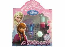 Disney Frozen Girls Nail Polish Pamper Set Winter Magic Ring,Nail Stickers elsa