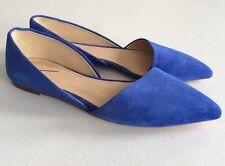 JCREW 6.5 Sloan Suede D' Orsay Flats Womens $148 NEW E0033 Bluebird