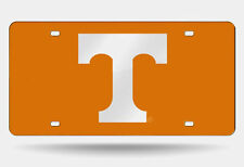 UT Tennessee Vols Black Mirrored Laser Engraved Checkerboard Tag
