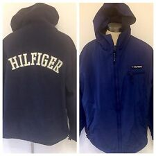 Vtg Tommy Hilfiger Reversible Mens Spellout Logo XXL Rare Hooded Sailing Jacket