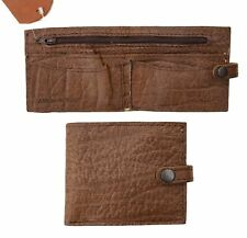 Rogue Men's Thick Rugged Buffalo Hide Brown Leather wallet New Designer Bifold