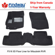 Black All Weather 3D Custom Car Floor Mats/Liner for 2011-2018 Mitsubishi RVR