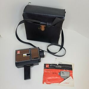 Vintage gaf S/72 SUPER 8 Zoom Movie Camera w/ Film, Case, Instructions UNTESTED