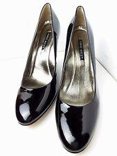 NINE WEST Black Patent Leather Platform Wedges/Women's Size 12M/NEW