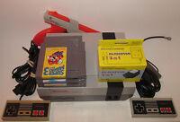 Nintendo NES Console System Bundle NEW PINS Game lot Super Mario 1 2 3 ZAPPER!