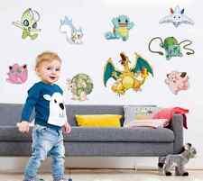 Pokemon go pikachu autocollant amovible graphique autocollant mural enfants chambre décor uk