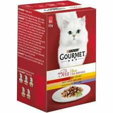 Gourmet Mon Petit Duo Meat Selection Cat Food 6 X 50G Adult Quality Chicken Lamb