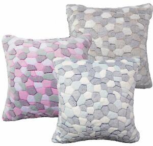 (Fa) Stone/Giraffe Print Soft Fleece Cushion Cover/Pillow Case Cumtom Size