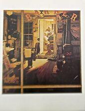Norman Rockwell Vintage print Shuffleton's Barbershop 16x11 Offset Lithograph
