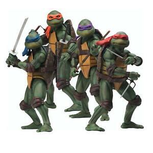 """NEW Teenage Mutant Ninja Turtles 1990 7"""" NECA Action Figures - Set of 4"""