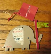 CRATE & BARREL by Suzy Ultman 2014 Baby's First Christmas Elephant Ornament