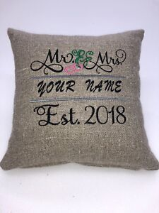 Wedding Embroidered Cushion