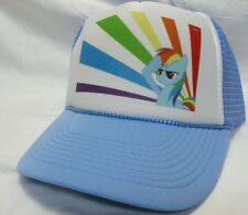 Rainbow Dash my little pony Trucker Hat mesh hat snapback hat baby blue