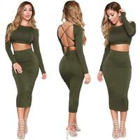 HOT UK WOMENS SLIM SEXY BACKLESS BANDAGE BODYCON DRESS LADIES PARTY PENCIL DRESS