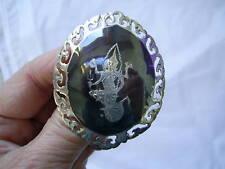 GRANDE Vintage SIAM Sterling Silver Dea della Luce Spilla intorno al 1960