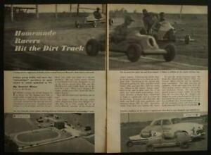 1949 Micromidget Dirt Track Racing vintage pictorial Race Car