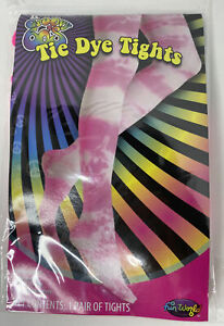 The Groovy 60's   TIE-DYE TIGHTS   One Size Fits Most   Hot Pink   BRAND NEW!!