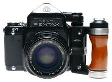 Asahi Pentax 6x7 SLR Film 67 Camera SMC Takumar 4.5/75 2.4/105 Lens
