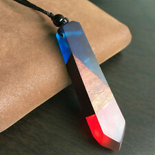 Color Random Jewelry Women/men Necklace Rope Chain Colored Resin Wood Pendant
