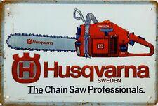 "Retro Blechschild Vintage Nostalgie look 20x30cm ""Husqvarna"" neu"