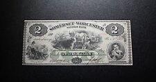 1862 Salisbury Maryland - Somerset & Worcester Savings Bank $2 Unc (466)