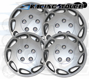 "Wheel Cover Replacement Hubcaps 15"" Inch Metallic Silver Hub Cap 4pcs Set #807"