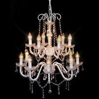 vidaXL Crystal Chandelier Antique Pendant Light Ceiling Lamp Wall Fixture