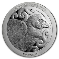 New Zealand - 2019 - Silver $5 Dollars Proof Coin- 1 OZ North Island Takahe