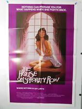 """Vtg Original """"The House On Sorority Row"""" 1982 Movie Poster Horror Slasher"""