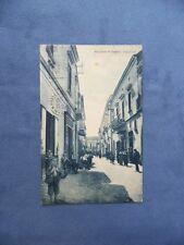 ANTICA CARTOLINA ILLUSTRATA-MUGNANO DI NAPOLI-VIA CHIESA-VIAGGIATA 1936-ANIMATA