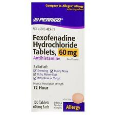 Perrigo Fexofenadine Hydrochloride Allergy Relief Tablets 60 mg 100 ea