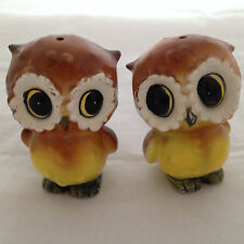 Vintage Baby Owl Salt and Pepper Shakers Never Used Made in Japan