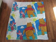 Disney Winnie The Pooh Twin Flat Sheet Pooh Bear & Piglet EUC
