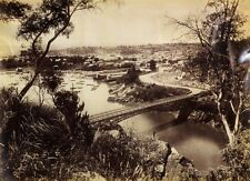 c1890 | JW BEATTIE | Launceston from Trevallyn TASMANIA large albumen photograph