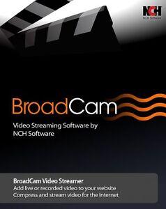 BroadCam Video Streaming Server , Broadcast Internet Video / Stream video