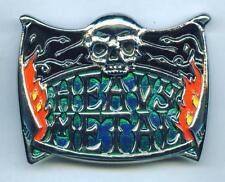 Gürtelschnalle Buckle Heavy Metal Skull & Flames