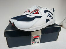 VINTAGE FILA M'S NIGHTHAWK WHITE RED NAVY SIZE 10.5 Y662W