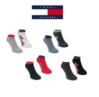 Genuine Tommy Hilfiger 2 Pack Designer Men's Trainer Socks Sizes 6 -11 Gift